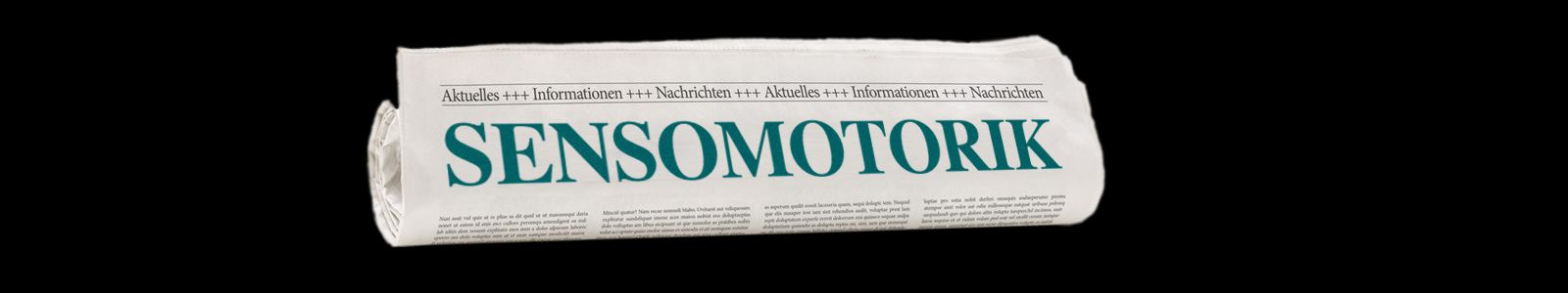 image of newspaper with Sensomotorik as headline